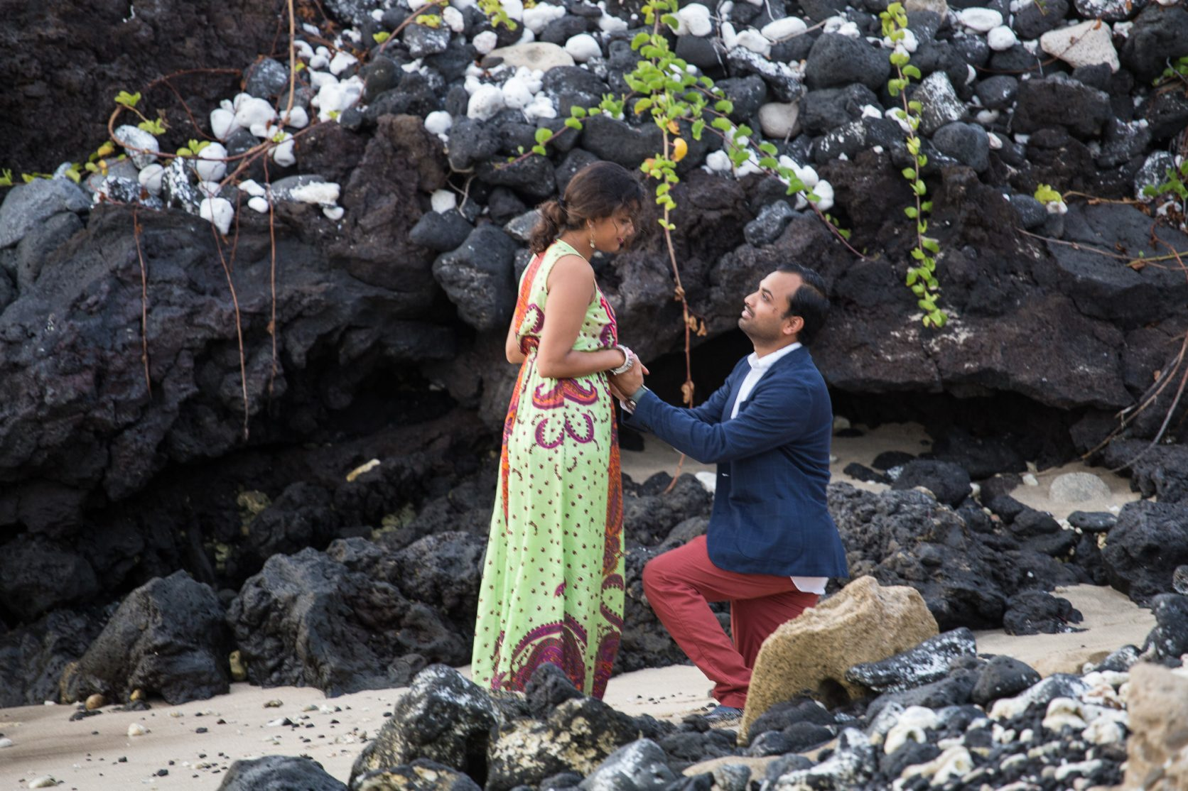 kukio beach four seasons surprise proposal hualalai kailua kona hawaii big island photographer