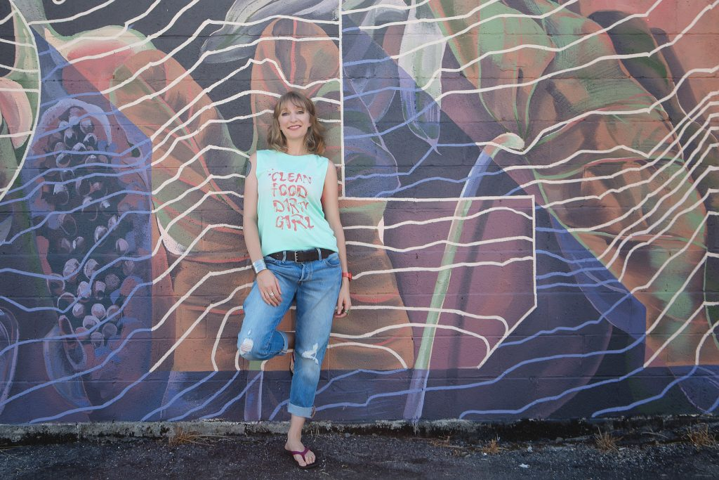 Clean Food Dirty girl woman leaning on graffiti wall professional branding portrait photography hilo big island hawaii