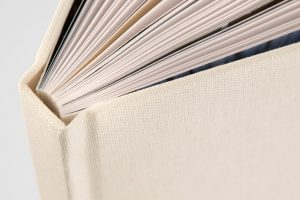 photo book binding close up
