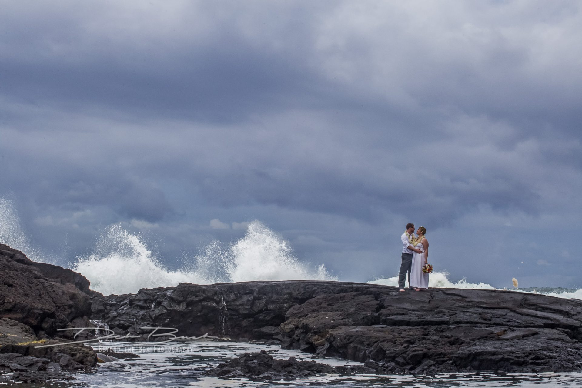 Crashing waves hawaii adventure elopement