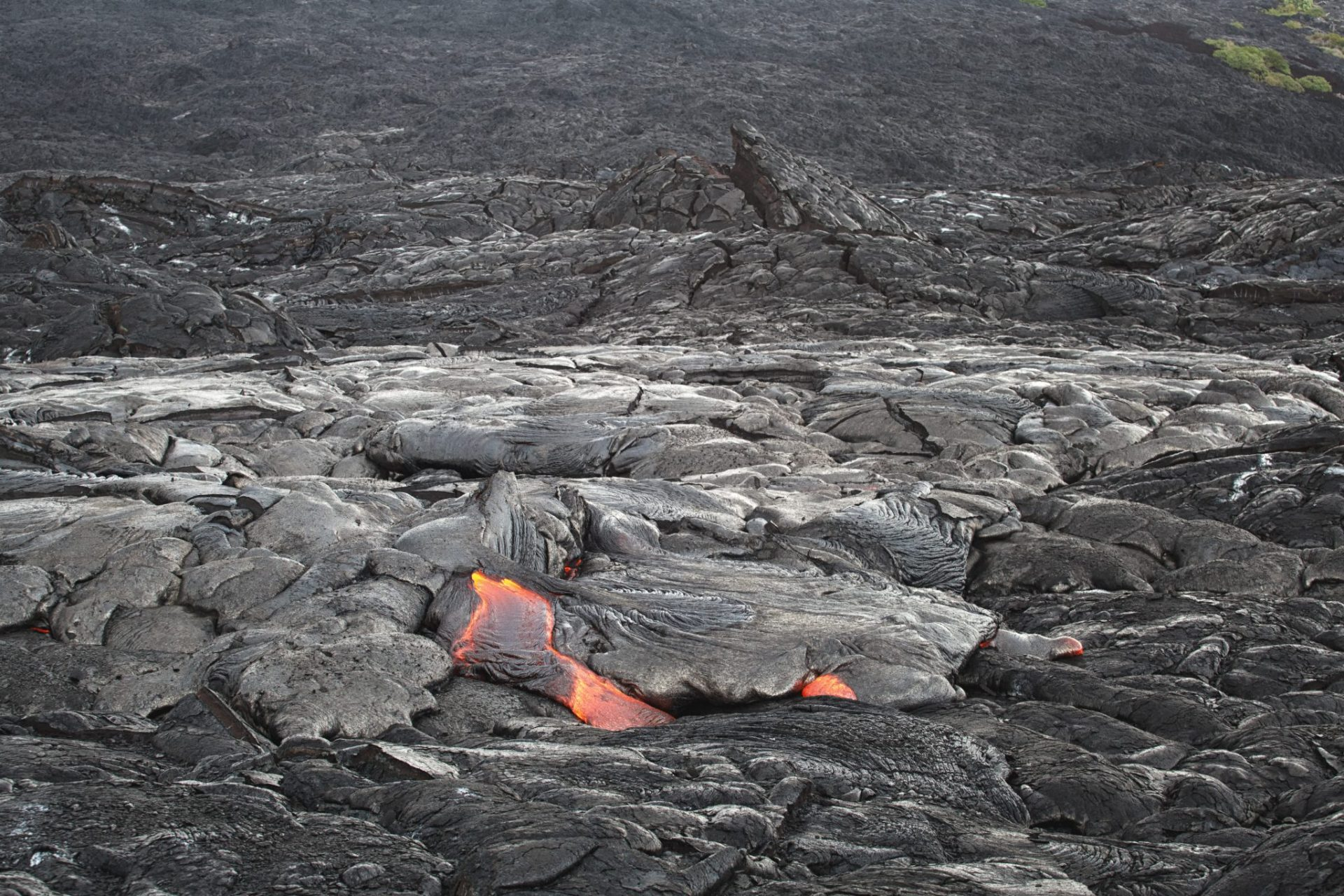 Lava field kalapana fresh lava big island hawaii