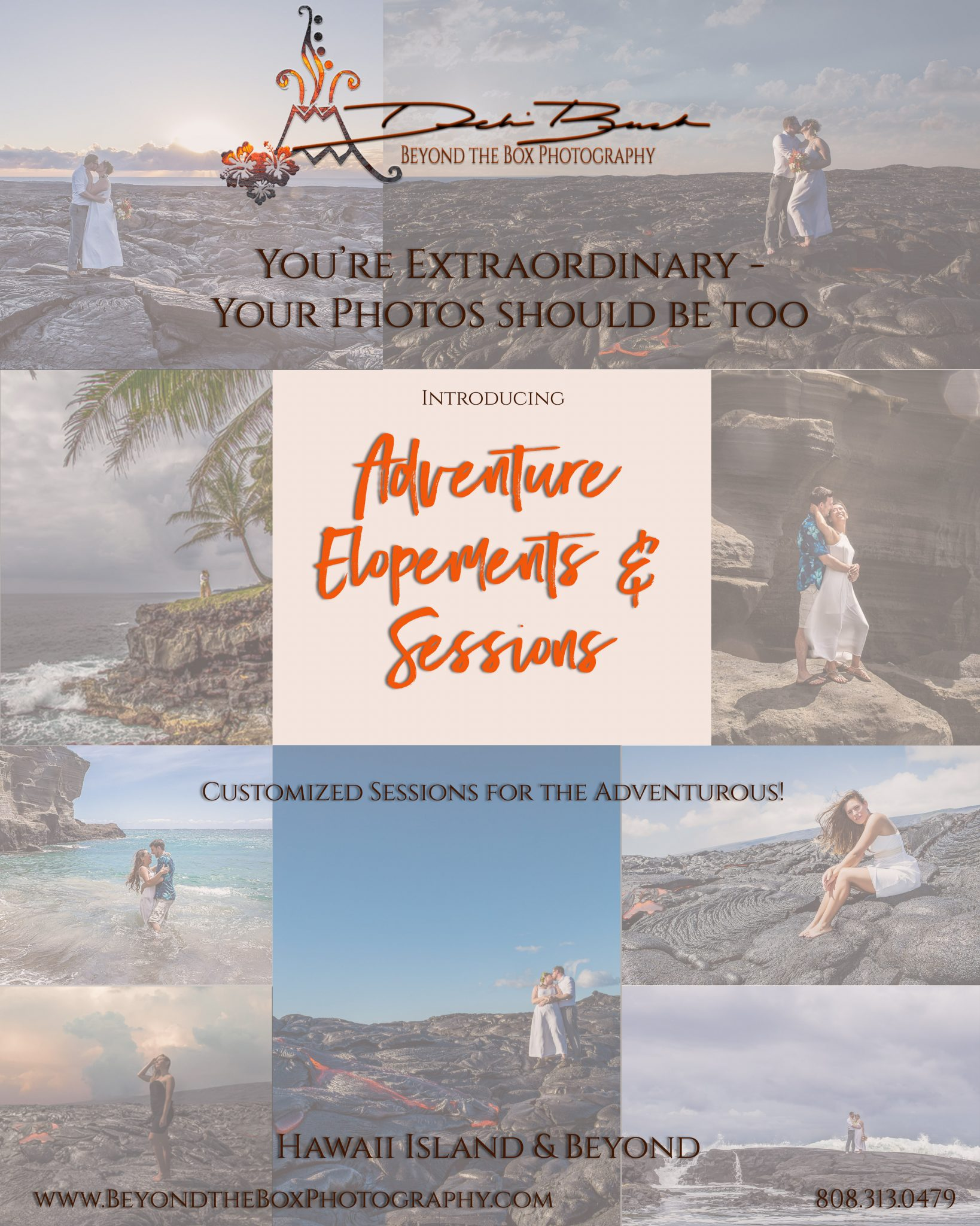 adventure elopements and session introduction flyer big island photographer